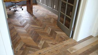 Reclaimed Oak Wide Plank & Chevron Pattern