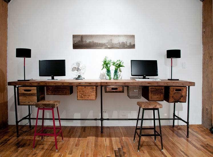 Eclectic Home Office by Urban Wood Goods