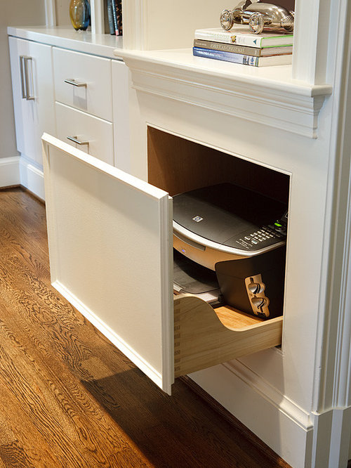 Hidden printer ideas pictures remodel and decor for Hidden kitchen storage ideas