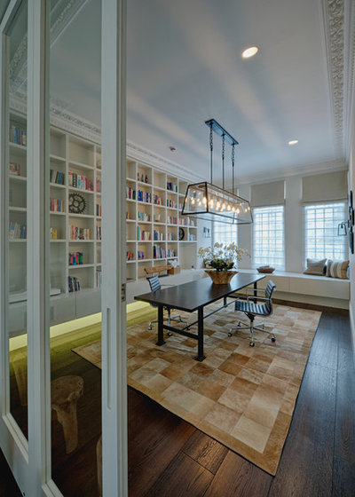 Contemporary Home Office & Library by marco joe fazio photography
