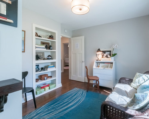 Traditional Blue Study Room Design Ideas Renovations amp Photos