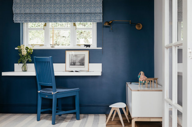 Beach Style Home Office by Tanya Leech Ltd.
