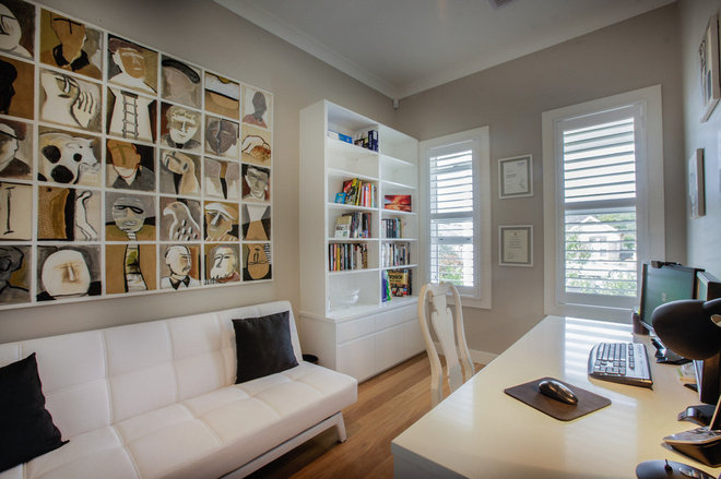 Modern Home Office by Quality Constructions