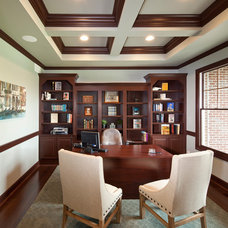 Traditional Home Office by Robert Lucke Homes
