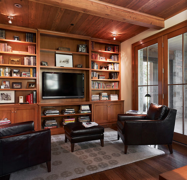 Traditional Home Office by Taylor Lombardo Architects