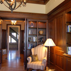Traditional Home Office by Hibler Design Studio