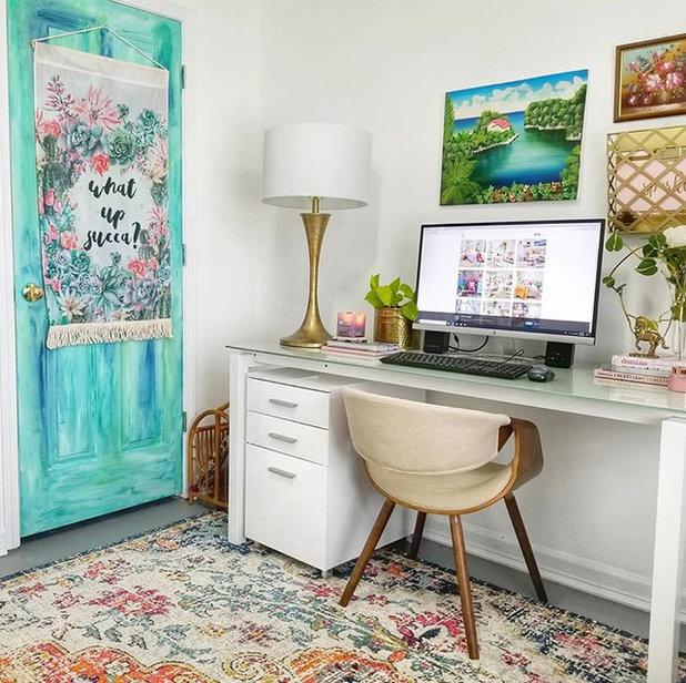 Eclectic Home Office by Studio PRAKRIYA