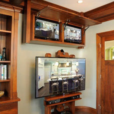 Transitional Home Office by Mullet Cabinet