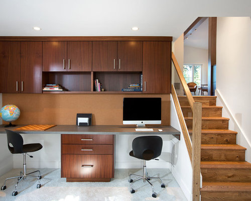 Top 100 Midcentury Modern Vancouver Home Office Ideas & Decoration ...