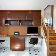 Midcentury Home Office by Sarah Gallop Design Inc.