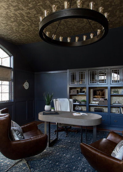 Eclectic Home Office by JK interior living