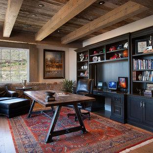 他の地域のサンタフェスタイルのおしゃれなホームオフィス・仕事部屋の写真