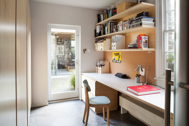 Contemporary Home Office & Library by Constructive and Co
