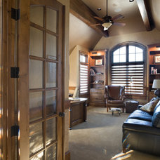Traditional Home Office by BC Custom Construction