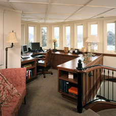 Traditional Home Office by Vujovich Design Build, Inc.