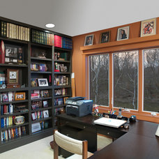 Traditional Home Office by Andrew Melaragno