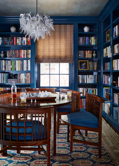 Traditional Home Office & Library by Phoebe Howard