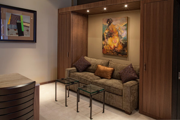 Contemporary Home Office by TZS Design