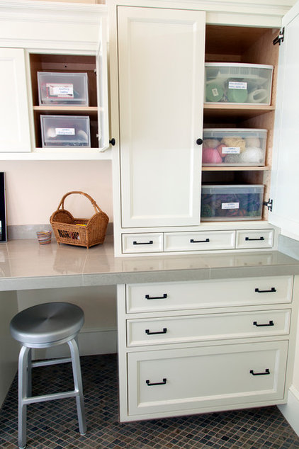 Traditional Laundry Room by Jenni Leasia Design