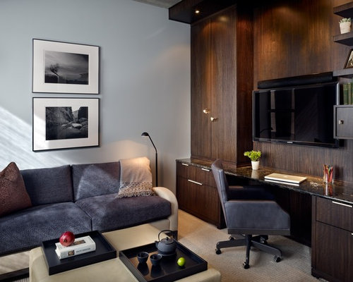 Tv Above Desk Home Design Ideas Pictures Remodel And Decor