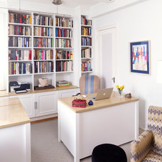 Transitional Home Office by Marcia Butler Interior Design Inc
