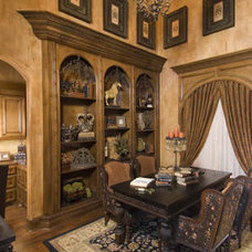Mediterranean Home Office by Peterson Homebuilders, Inc.
