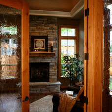 Traditional Home Office by DreamBuilder Custom Homes