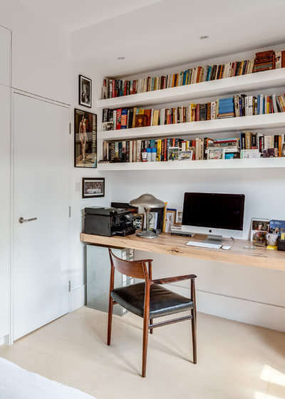 Industrial Home Office & Library by Paper House Project