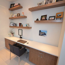 Modern Home Office by Rock Point Cabinets