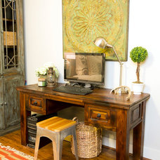 Traditional Home Office by Kathryn J. LeMaster Art & Design