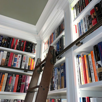 Rolling Library Ladder needed to reach books above 8ft