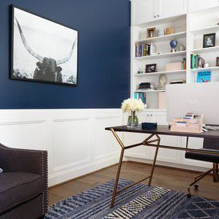 Blue home office Feminine 75 Most Popular Home Office With Blue Walls Design Ideas For 2019 Stylish Home Office With Blue Walls Remodeling Pictures Houzz Houzz 75 Most Popular Home Office With Blue Walls Design Ideas For 2019