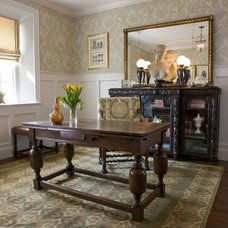 Traditional Home Office by Rose DiNapoli Interiors and Decorative Arts
