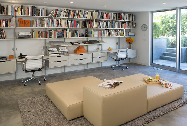 Modern Home Office & Library by Dean Nota Architect