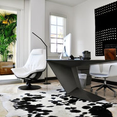 Contemporary Home Office by Causa Design Group