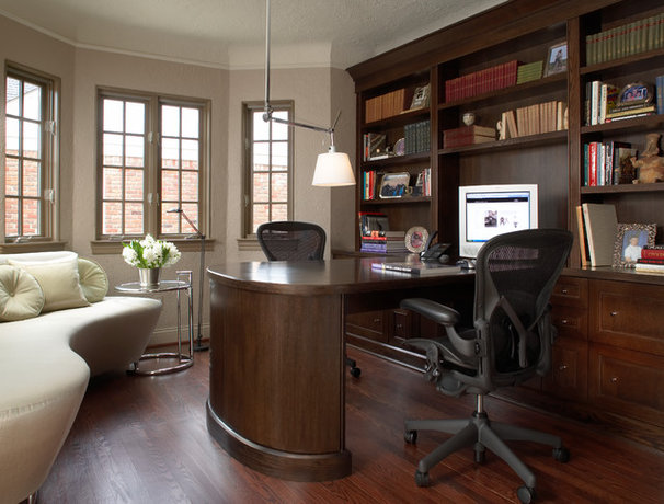 Traditional Home Office by Richard Ross Designs