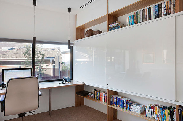 Contemporary Home Office & Library by bg architecture