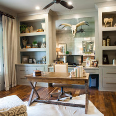 Farmhouse Home Office by Keystone Millworks Inc