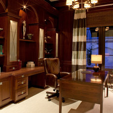 Traditional Home Office by Godfrey Design Consultants Inc