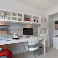 Contemporary Home Office by Portico Design Group