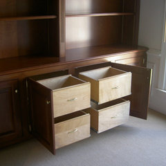 traditional home office by RSG WoodWorks