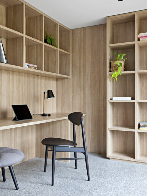 home office modern home. Inspiration For A Mid-sized Modern Study Room In Melbourne With Concrete  Floors, Home Office E