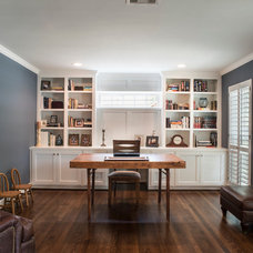 Traditional Home Office by Mission Custom Builders