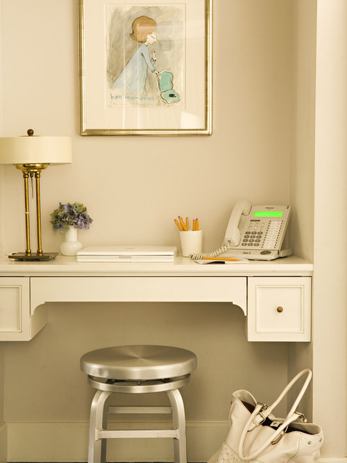 Suspended desk ideas pictures remodel and decor - Girly office desk accessories ...