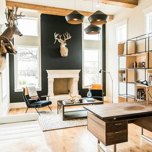 Rustic Contemporary Living Room