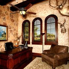 Mediterranean Home Office by Zbranek & Holt Custom Homes