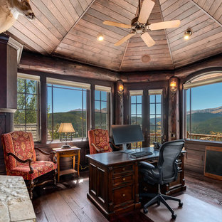 Charmant Mountain Style Home Office Photo In Denver