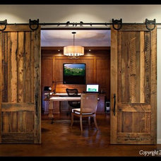 Rustic Home Office by Specialty Doors
