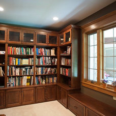 Rustic Home Office by Mullet Cabinet