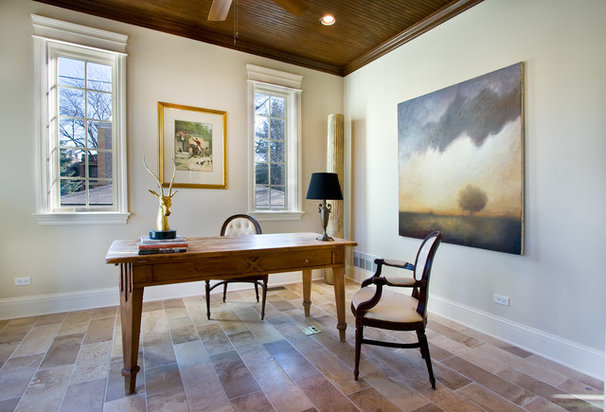 Traditional Home Office by Linc Thelen Design